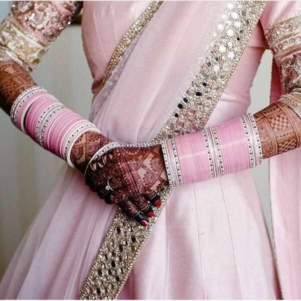Pink chooda designs for indianbrides