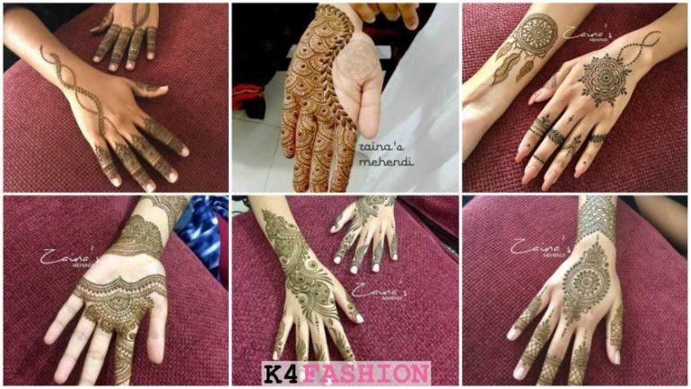 Simple Mehndi Designs for Front \u0026 Back Hand , K4 Fashion