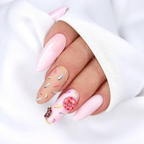 The Feminine Pink Latest Nail Art Designs to Glam-up Your Nails 2020