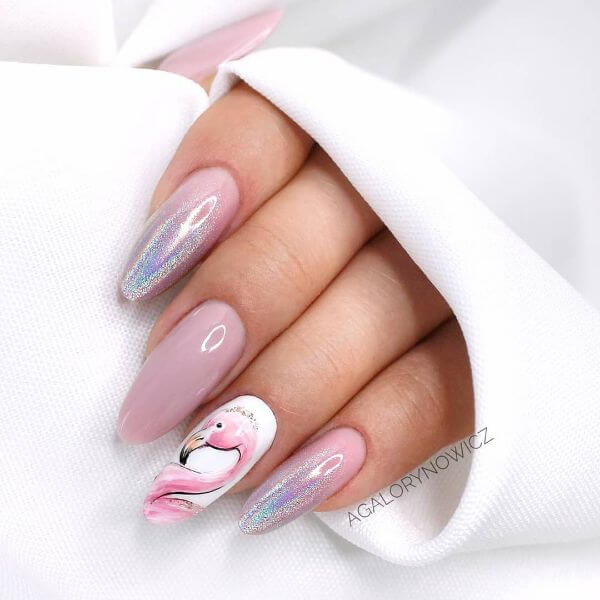 The Flamingo Art Latest Nail Art Designs to Glam-up Your Nails 2020