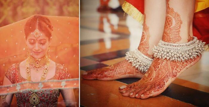 Gorgeous Payal for bride's feet