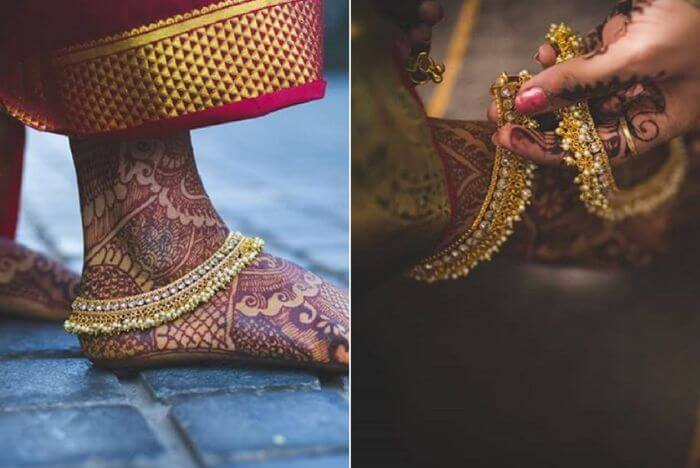 Graceful Payal design for Indian bride Latest Payal Designs for Brides - Trending Anklets for Wedding