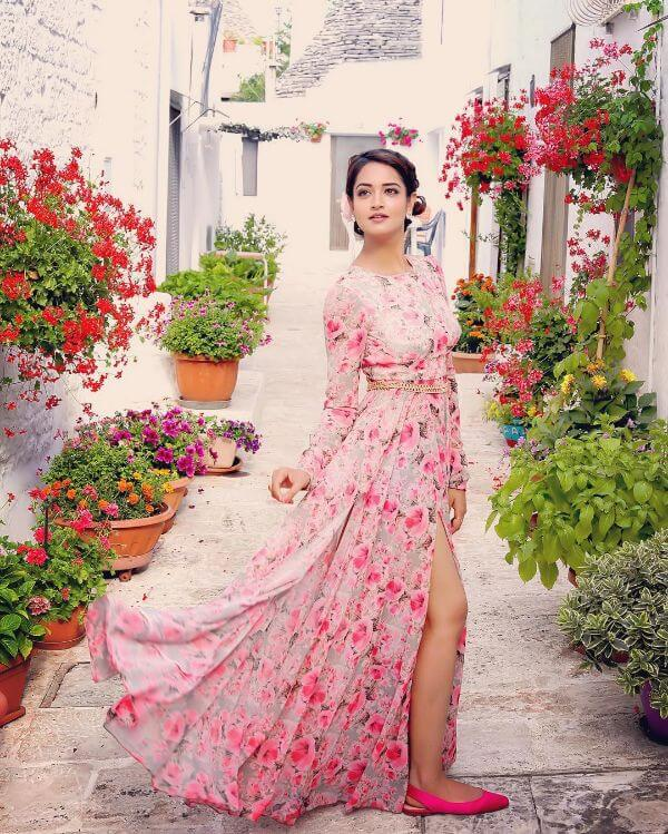 The floral beauty bridesmaid outfit Shanvi Srivastava Bridesmaids Outfits | Trending This Year