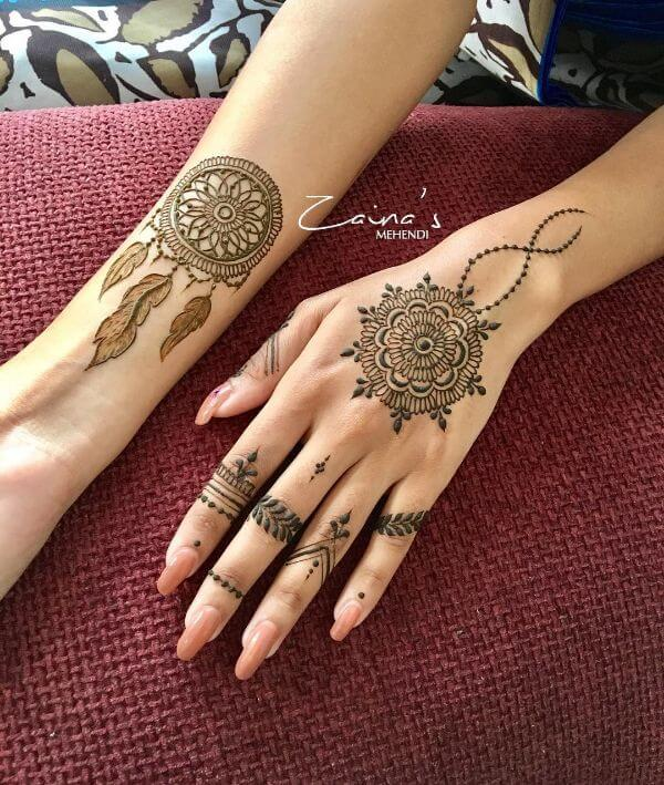 simple mehndi designs for back and front hands Simple Mehndi Designs for Front & Back Hand