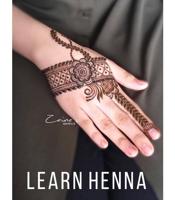 Unique and simple mehndi designs for back hands Simple Mehndi Designs for Front & Back Hand