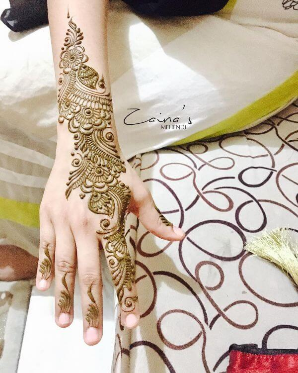 Beautiful and simple mehndi designs for back hands Simple Mehndi Designs for Front & Back Hand