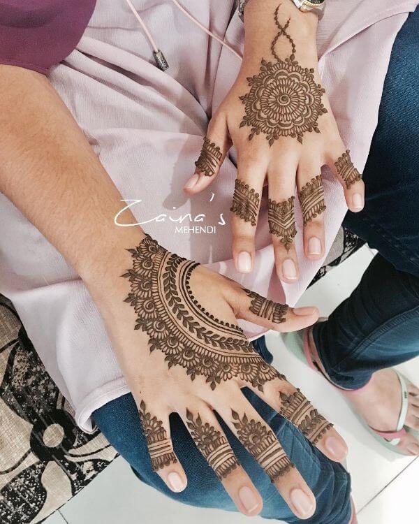 Mandalasimple mehndi designs for back hands