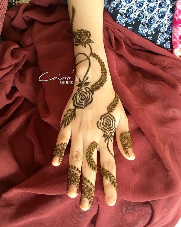 Beautifulsimple mehndi designs for hands