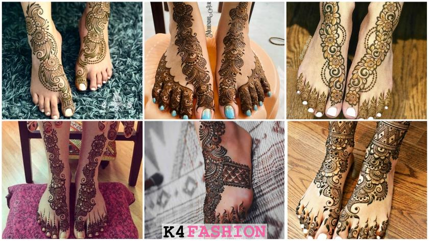 Leg Mehndi Designs - Simple & Easy Henna Patterns for Bridal Feet