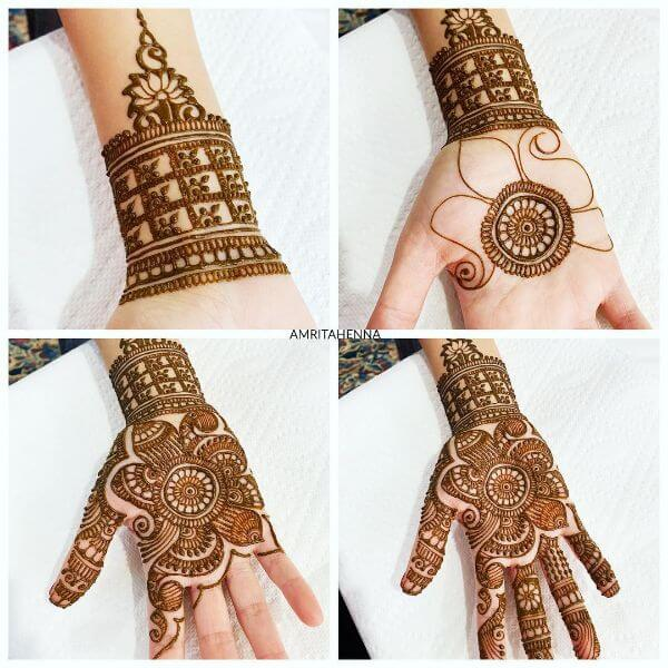 Beautiful floral mehndi design Mehndi Designs for Full Hand : Step by Step Tutorials