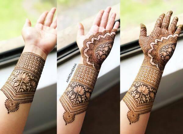 Beautiful fuller mehndi design Mehndi Designs for Full Hand : Step by Step Tutorials