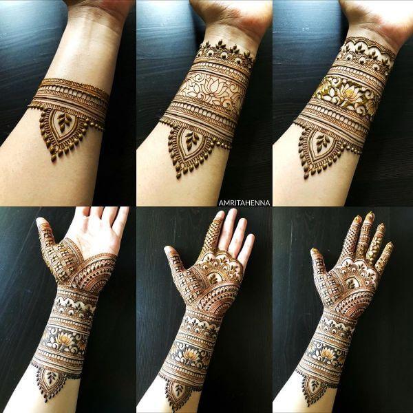 Fuller mehndi design for hands Mehndi Designs for Full Hand : Step by Step Tutorials
