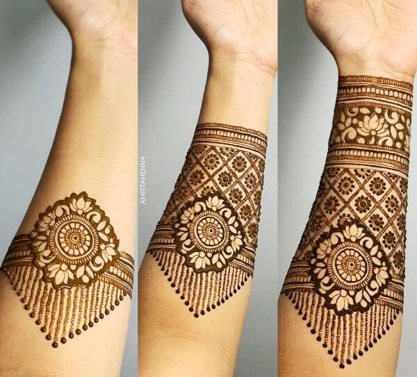 The arm mehndi design tutorial Mehndi Designs for Full Hand : Step by Step Tutorials