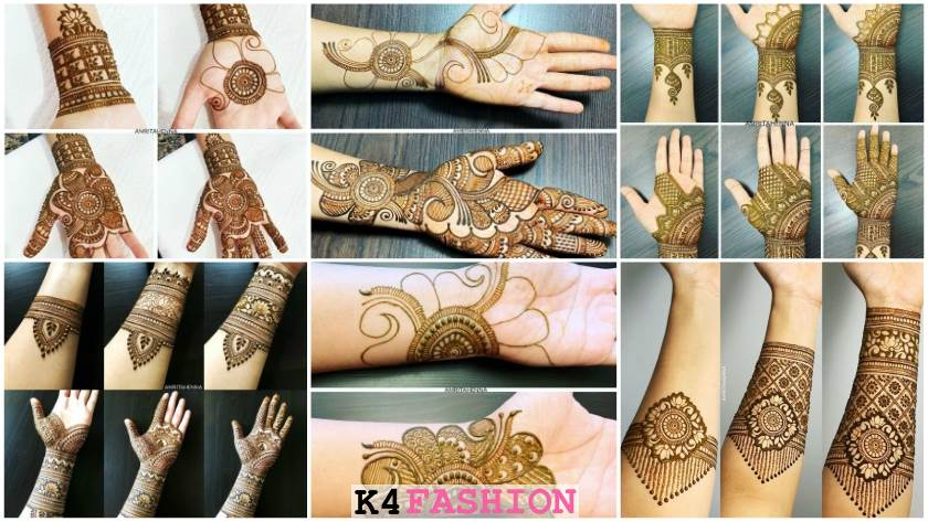 Henna Mehandi Designs for Full Hand Step by Step