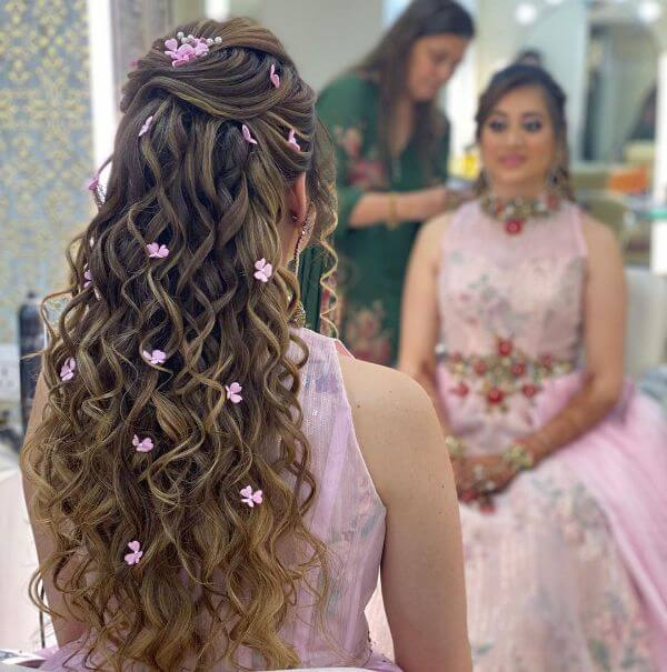 Indian Bridal Hairstyles For Sangeet K4 Fashion