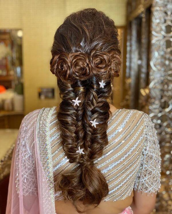 Rose ringlets with french & dutch braids to add some quirkiness to your hairdo