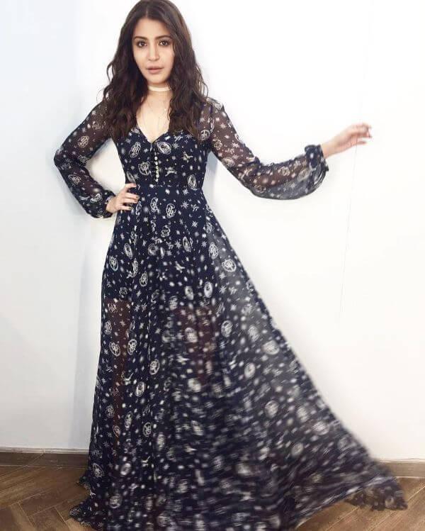 Anushka Sharma is summer-ready in a printed sheer maxi dress