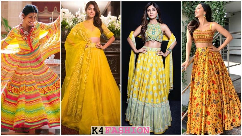 Gorgeous Yellow Lehengas and Sarees for Haldi Ceremony