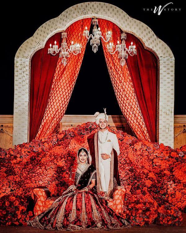 Velvet Bridal Outfits for the Winter Wedding Season