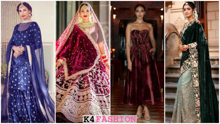 Velvet Bridal Outfits for the Winter Wedding Season