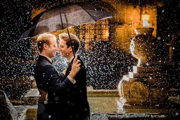 Pre-wedding shoot of the rain magic
