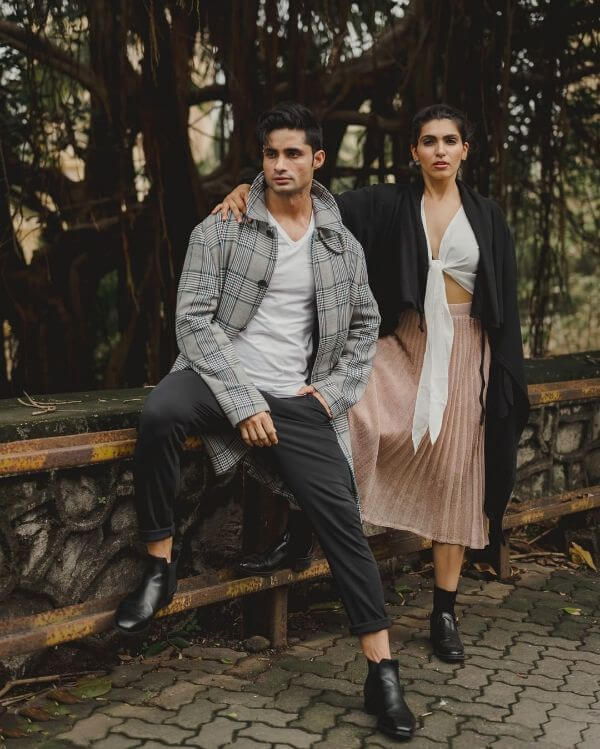 Pre-wedding shoot of the not so filmy couples Winter Pre-Wedding Photoshoot Ideas with Beautiful Locations