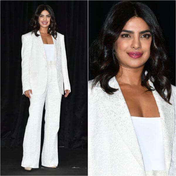 Boss Lady Priyanka Chopra Jonas shines white like a diamond. Winter Outfit Ideas Inspired by Bollywood Divas