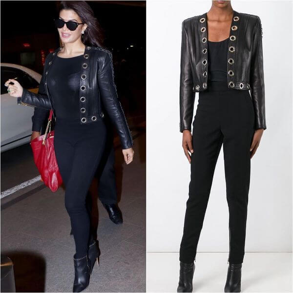 Jacqueline roams around wearing Balmain Winter Outfit Ideas Inspired by Bollywood Divas
