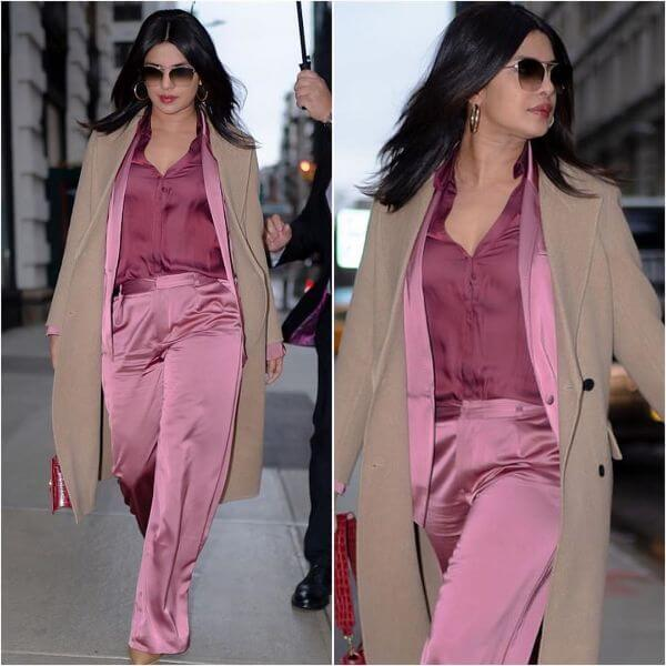 Priyanka in NYC streets Winter Outfit Ideas Inspired by Bollywood Divas