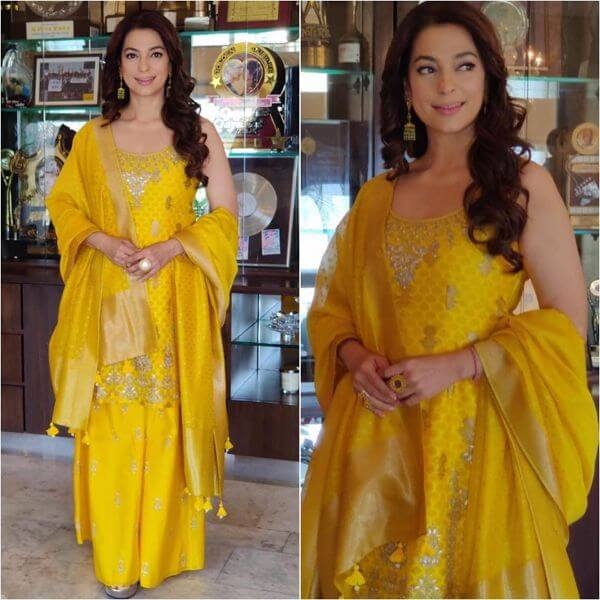 Yellow Sharara Suit for Bride's Mom Yellow Sharara Suits to Make Your Haldi Ceremony Special
