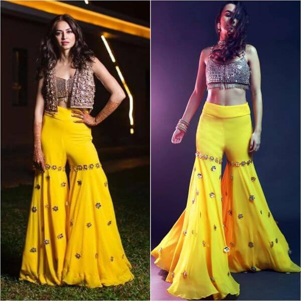 Indo-Western Yellow Sharara Suit for Haldi Ceremony Yellow Sharara Suits to Make Your Haldi Ceremony Special