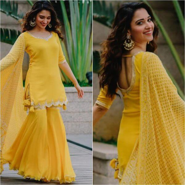 Yellow Sharara Suit for Bridesmaid Yellow Sharara Suits to Make Your Haldi Ceremony Special