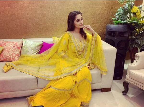 Dipika Kakar Ibrahim in Yellow Sharara Suit for Haldi Ceremony Yellow Sharara Suits to Make Your Haldi Ceremony Special