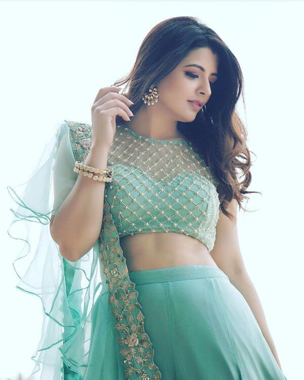 Embellished embroidery work front net blouse design stylish celebrity fashion designer