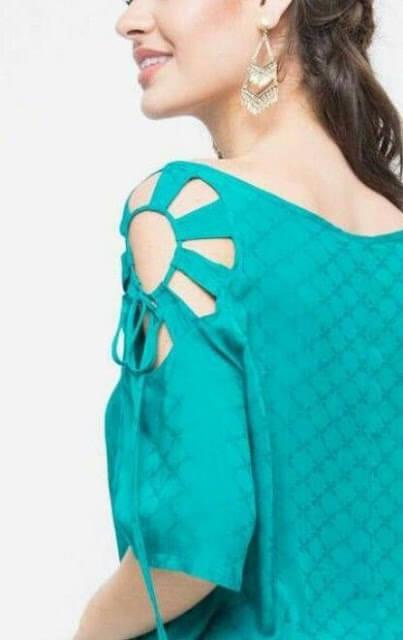 Shoulder cut out designed sleeves