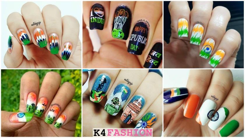 Republic day nail art ideas