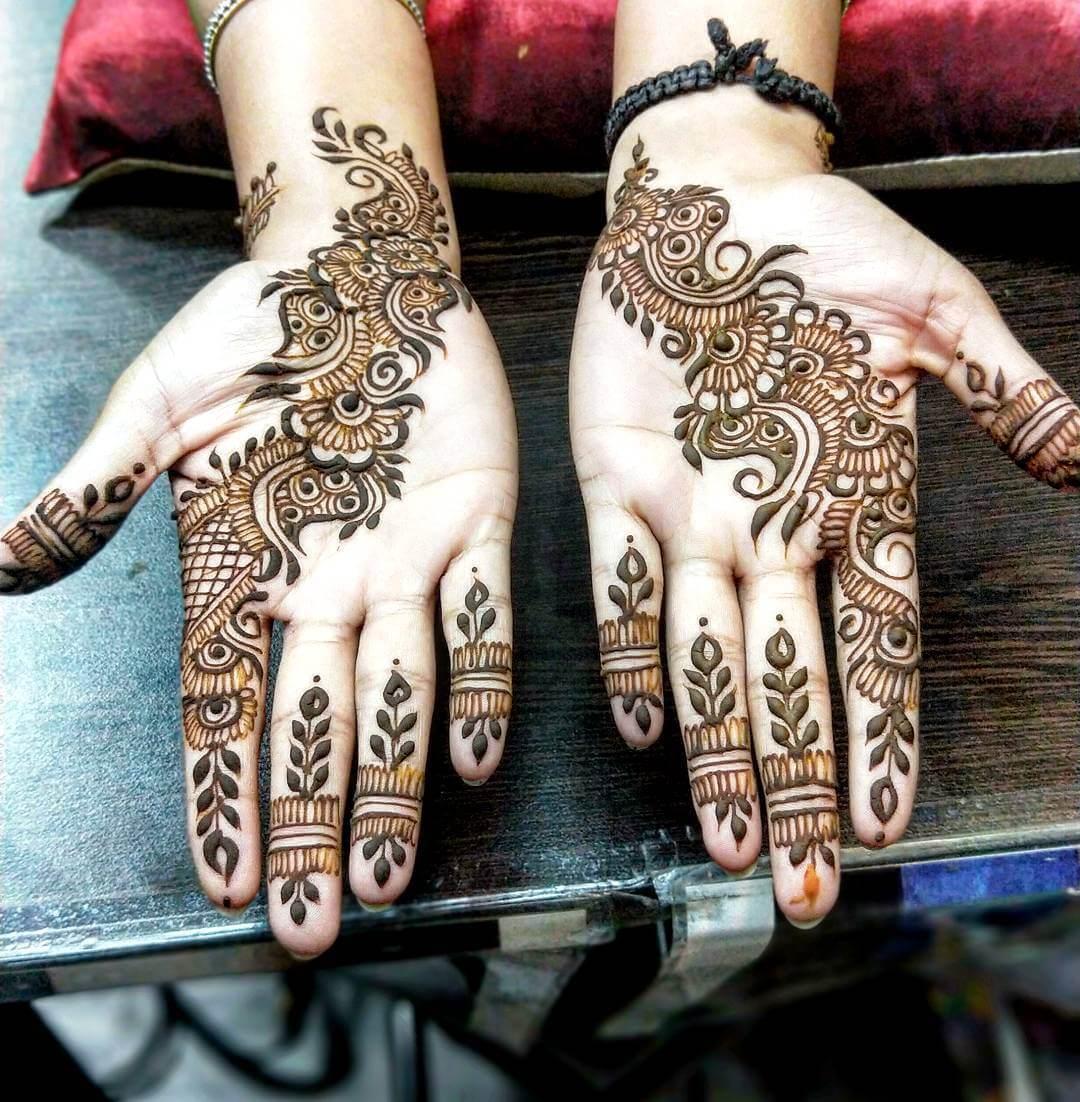 Sharp arabic mehndi design for hand