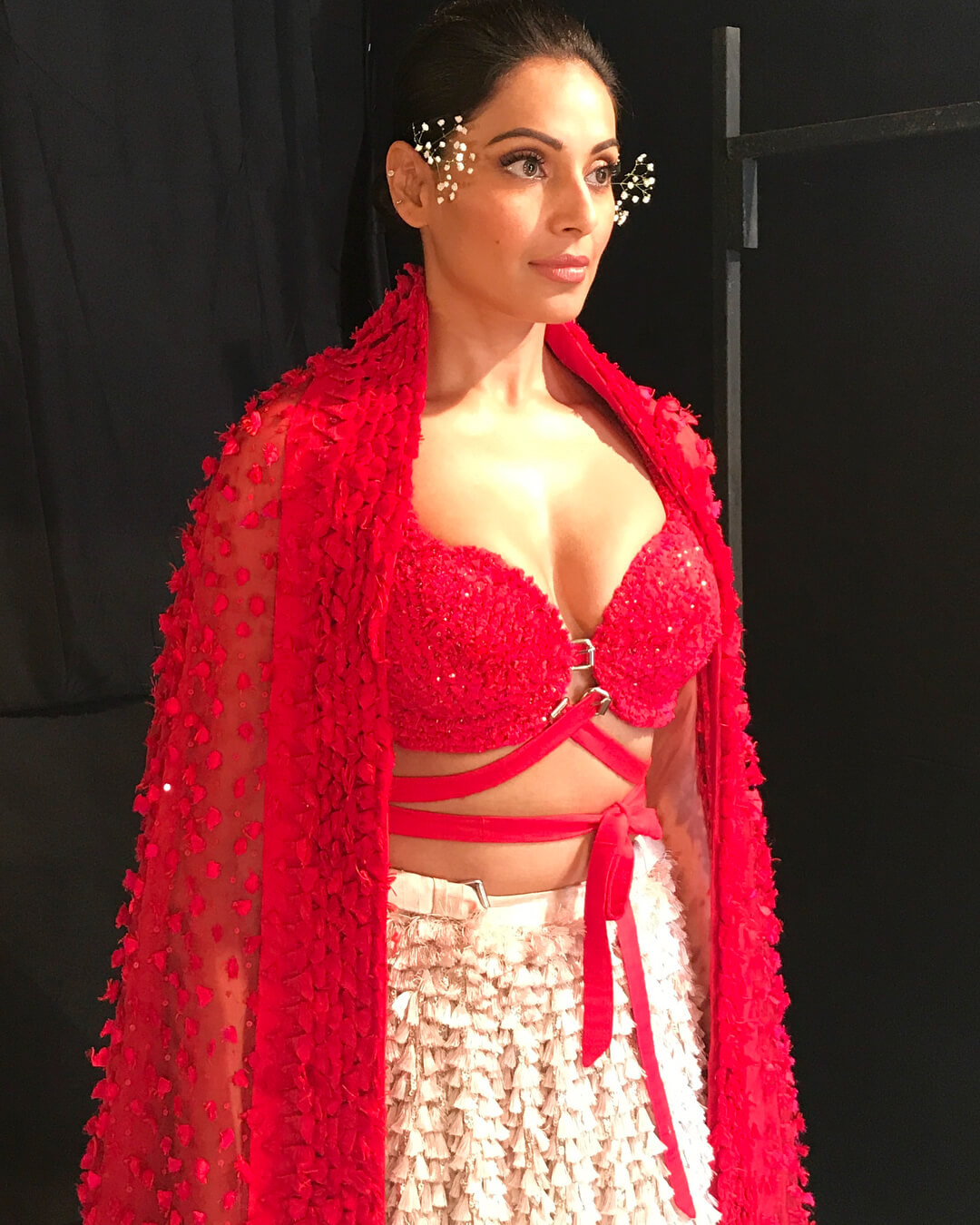 Red and white Bold outfit