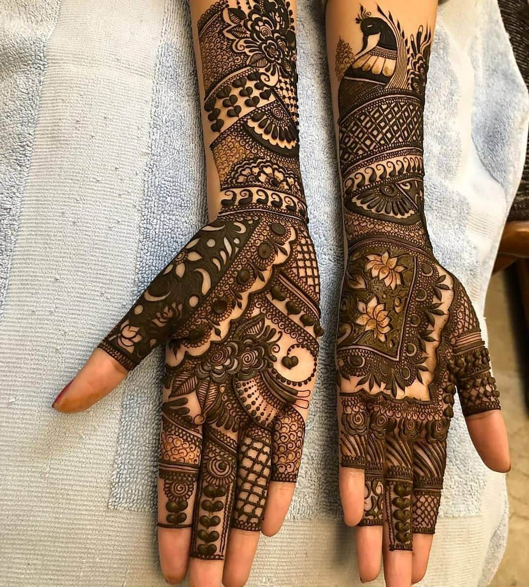 Bridal Dulhan Mehndi Design for Front Hands