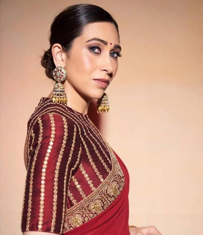 Karisma Kapoor in Sabyasachi Earrings