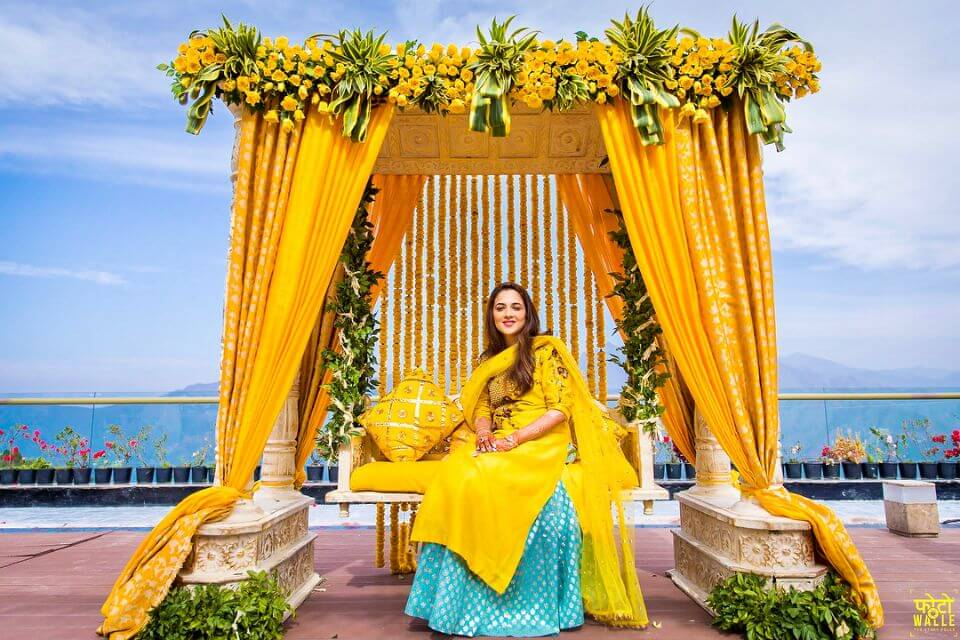 Wedding ceremony stage Haldi Ceremony Decoration Ideas