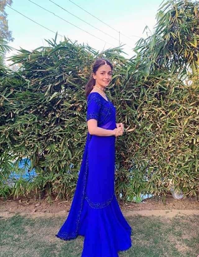 Beautiful pallazo with dupatta and blouse Indian Bridesmaid Dresses | Celebrity Wedding Dress Inspirations