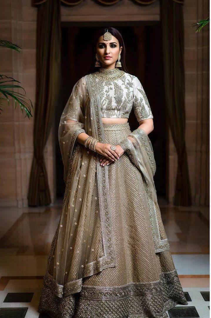 Heavy Traditional Lehenga for Indian wedding day Indian Bridesmaid Dresses | Celebrity Wedding Dress Inspirations