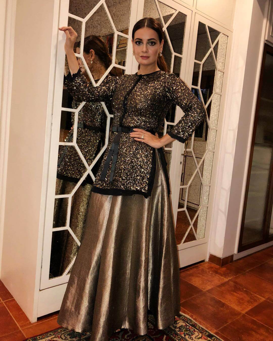 The metallics and sparkle Dia Mirza outfits