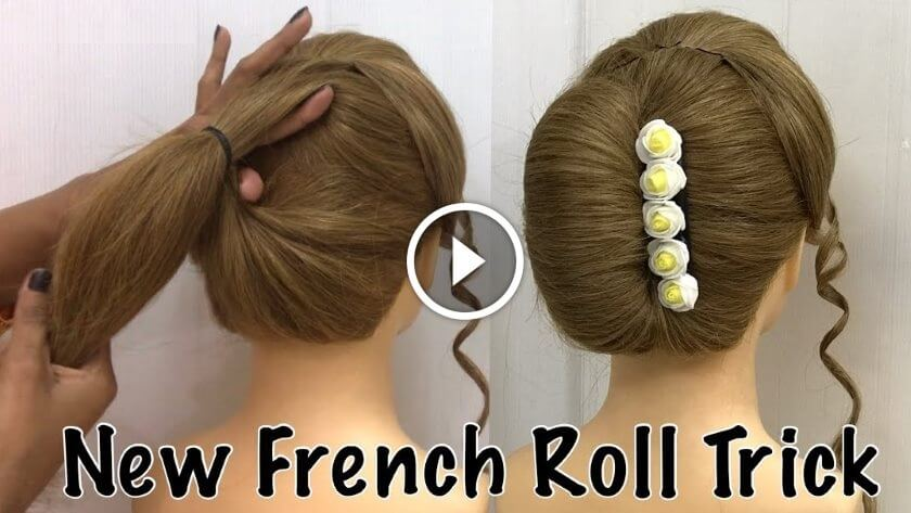 French Bun Hairstyle Trick Tutorial Step By Step
