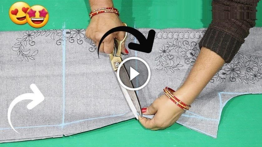 How to cut simple kurti/Kameez - Cutting, Stitching Video Tutorial