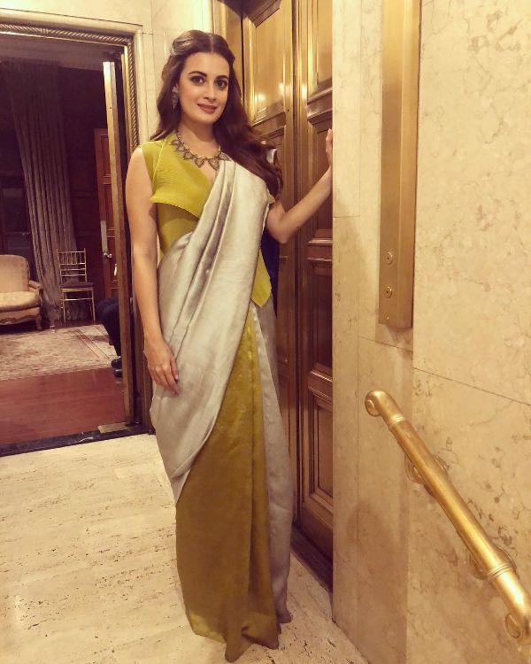 Waist coat blouse Modern Saree Draping Styles Inspo from Bollywood