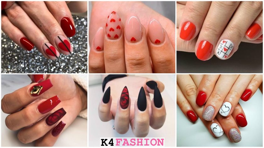Best Valentine's Day Nails - Hot Nail Art Design Ideas for V-Day