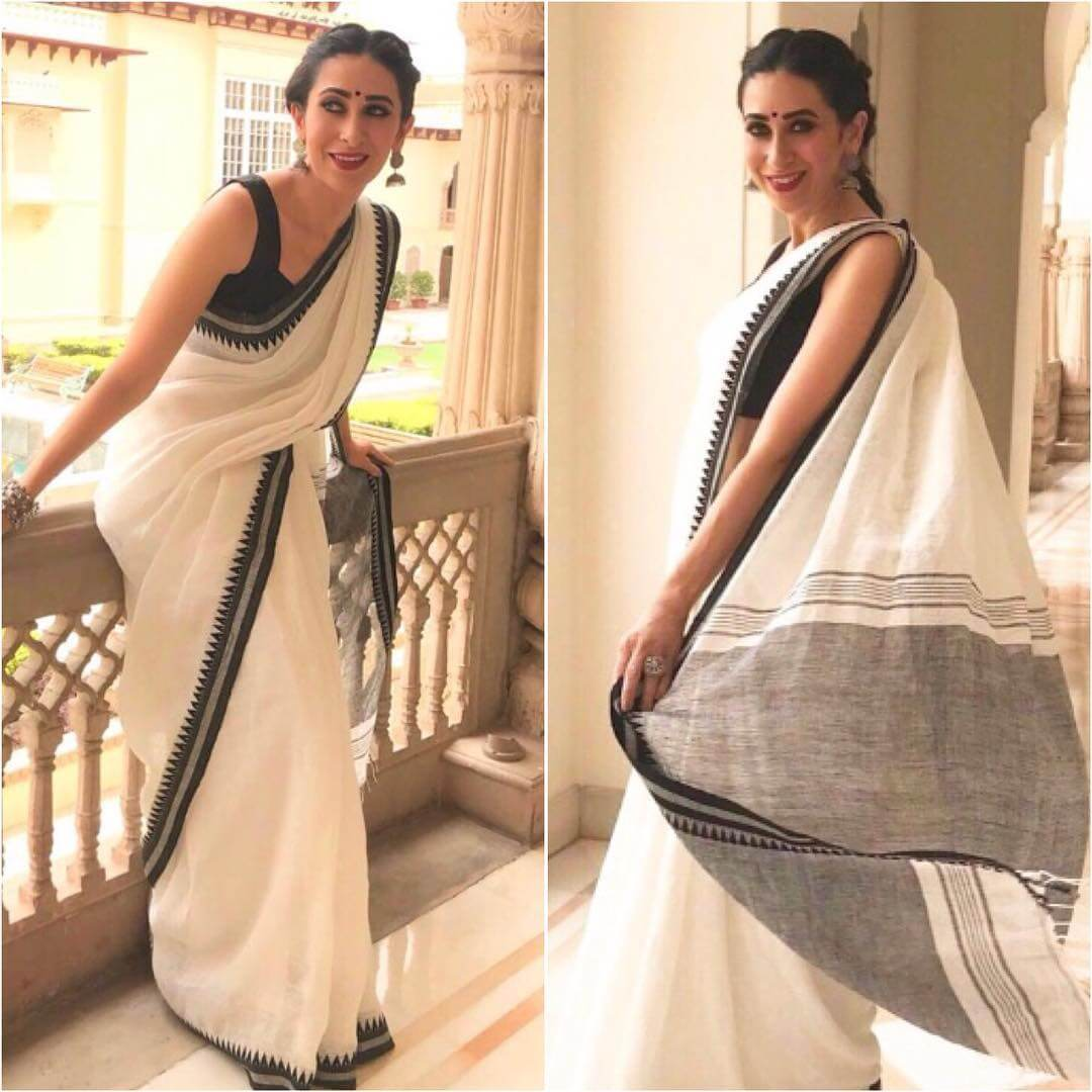 Plain black sleeveless blouse Plain Sarees with Designer Blouse Designs - Best from Bollywood