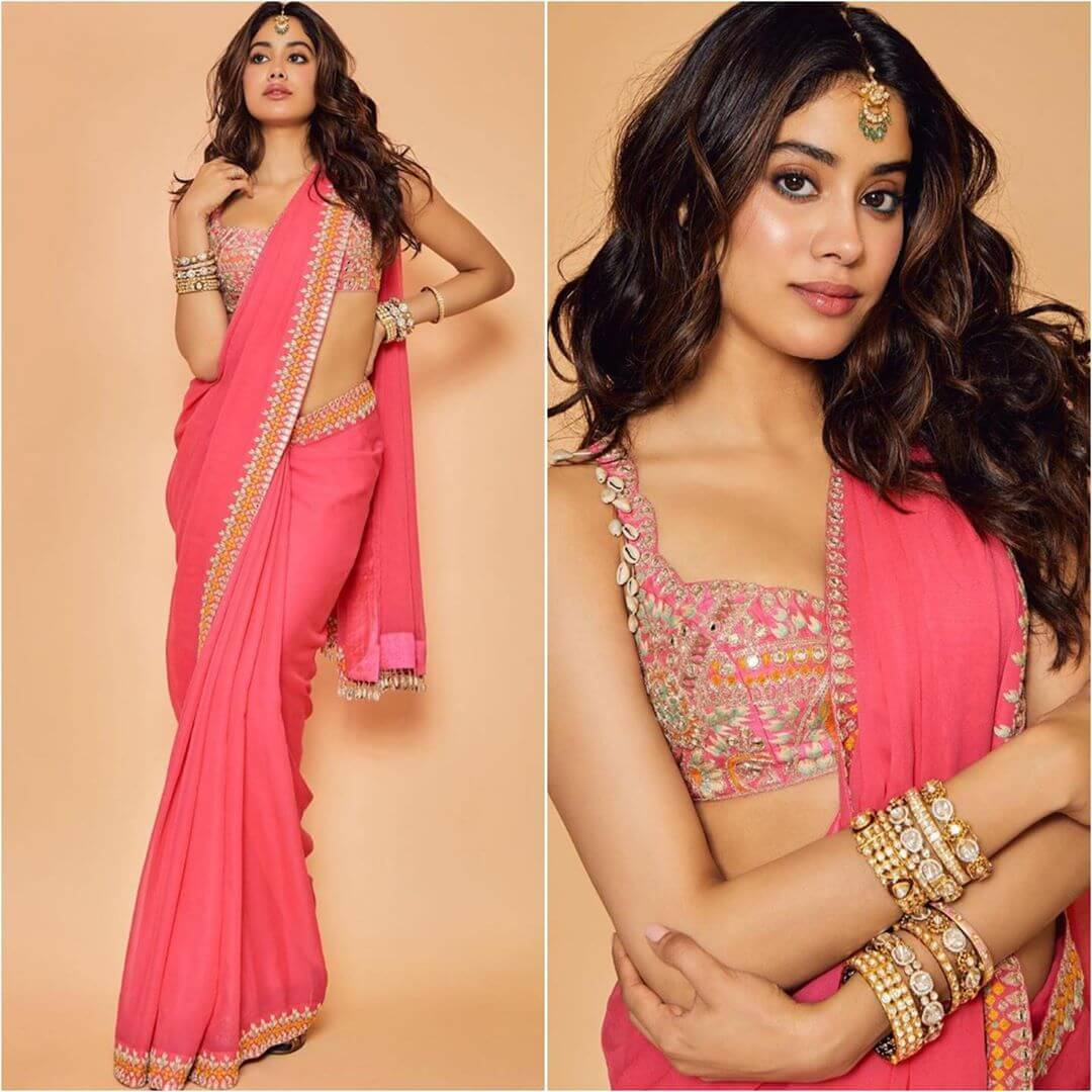The sleeveless shell blouse - Plain Sarees with Designer Blouse Designs - Best from Bollywood